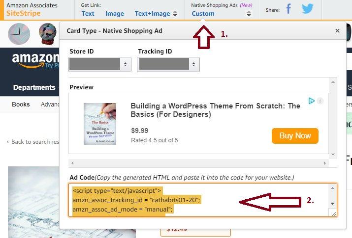Adding Amazon Affiliate Links Using SiteStripe