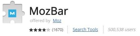 mozbar in chrome web store