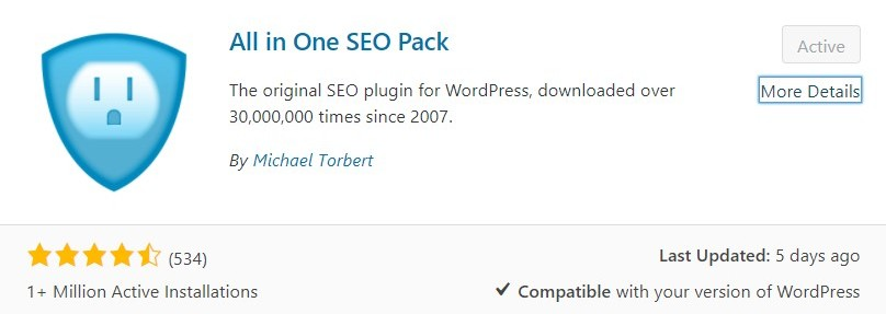 install all in one seo plugin