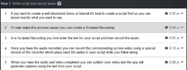 scripted recordings