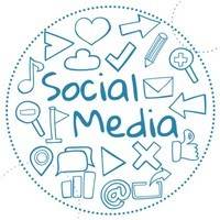 social media in combination with blogging