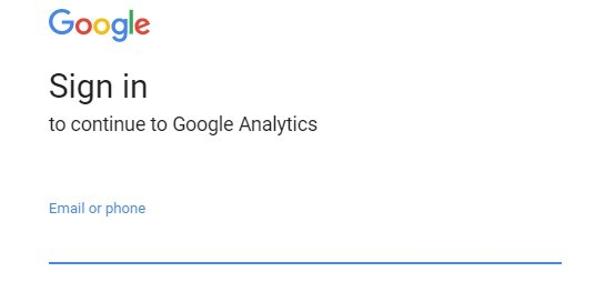 sign in to google analytics