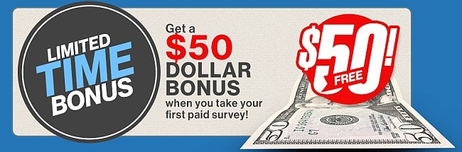paid survey authority joining bonus