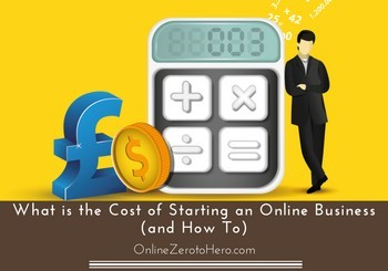 cost of starting an online business