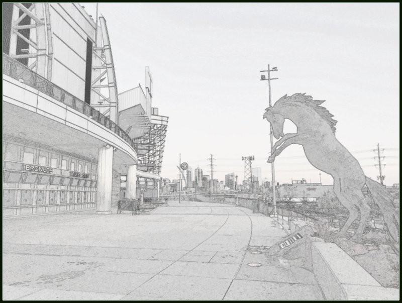 Mile High Stadium Denver CO