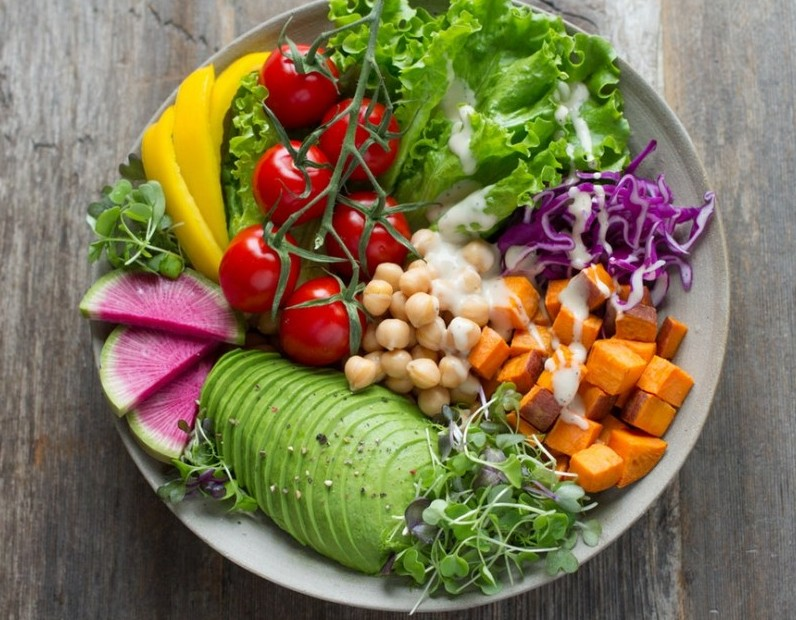 Avocado, Chickpea Salad