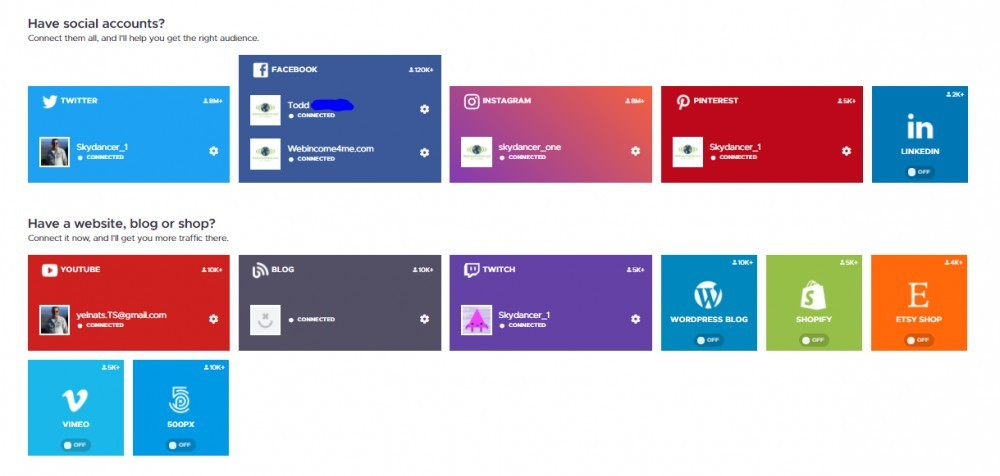 Crowdfire App Accounts