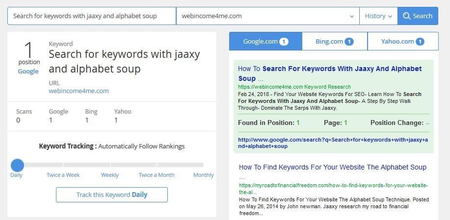 Jaaxy Alphabet Soup