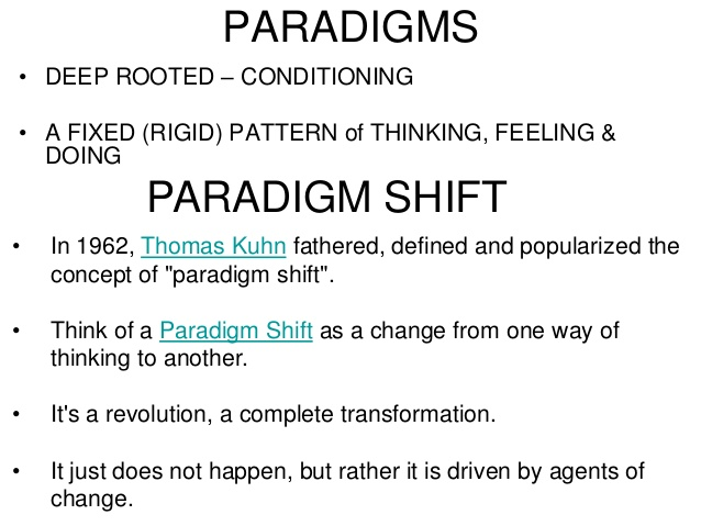 an analysis of the topic of a paradigm shift Paradigm definition is - example, pattern  garbage, 6 july 2018 the users sit there dazzled by the paradigm shift in their mode of thinking.