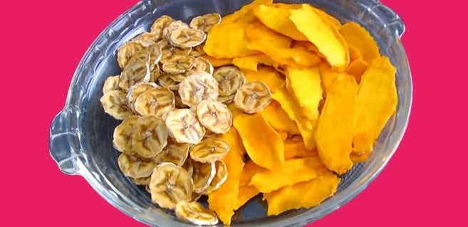 dehydrated mango and banana