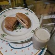 tofu plantain sandwich and banana oats punch