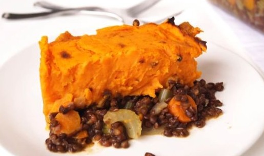 sweet potato lentil shepherds pie