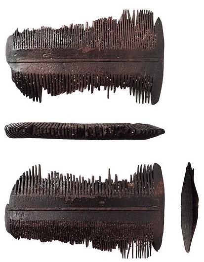 Peine de madera (boj) para piojos
