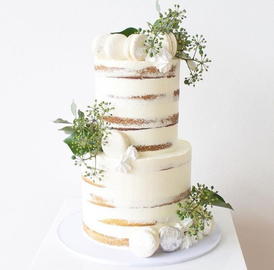 Rustic Naked Wedding Cake - Two Tier Cake
