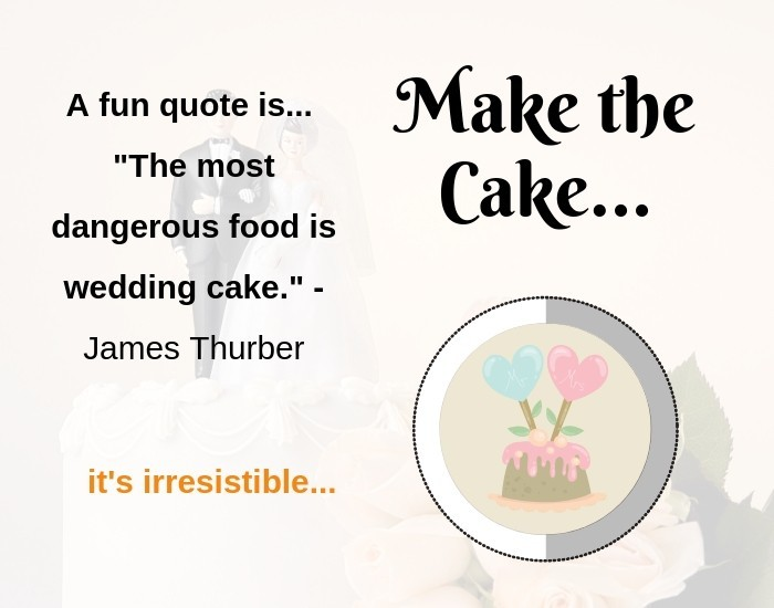 When to order the wedding cake -Make the Wedding Cake