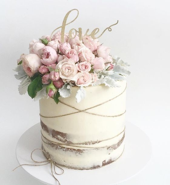 Rustic Naked Wedding Cakes - Semi Naked