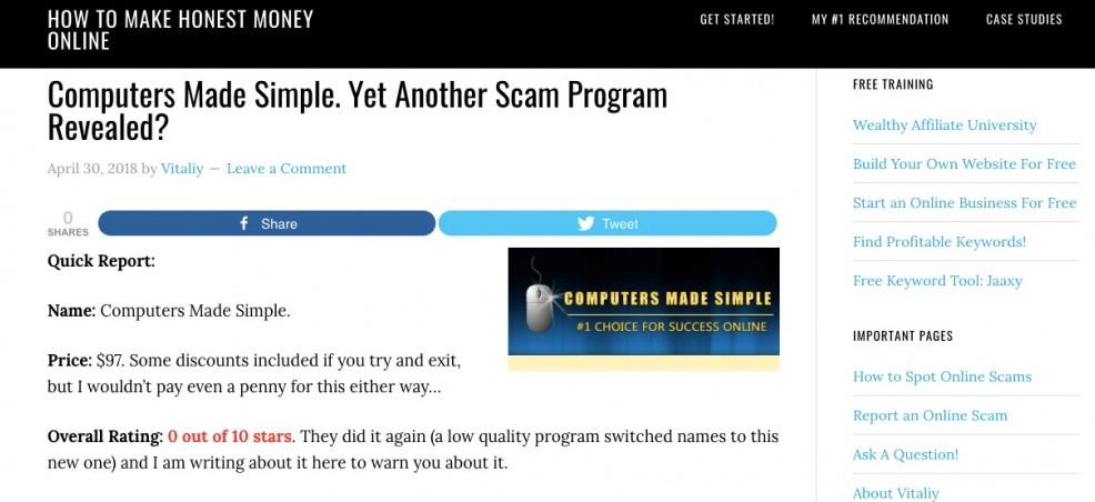 #2 of a Successful Affiliate Marketing website