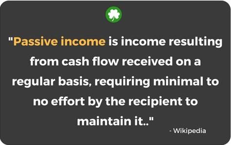 Passive Income definition as per Wikipedia