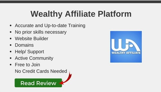 Click HERE to read my Wealthy Affiliate Review