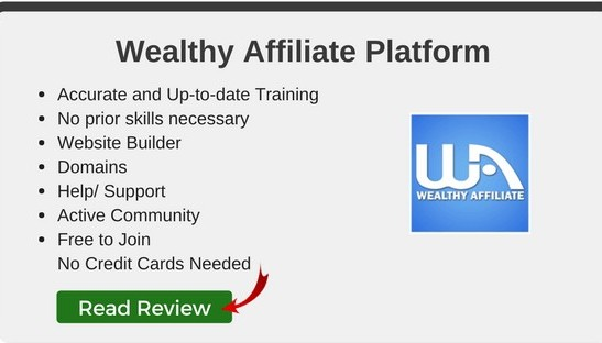 Click here to read my Wealthy Affiliate Review, the best course to learn affiliate marketing