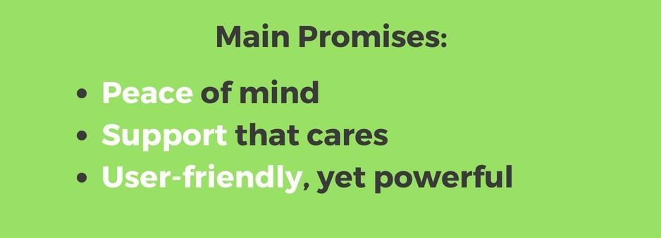 Kinsta main promises