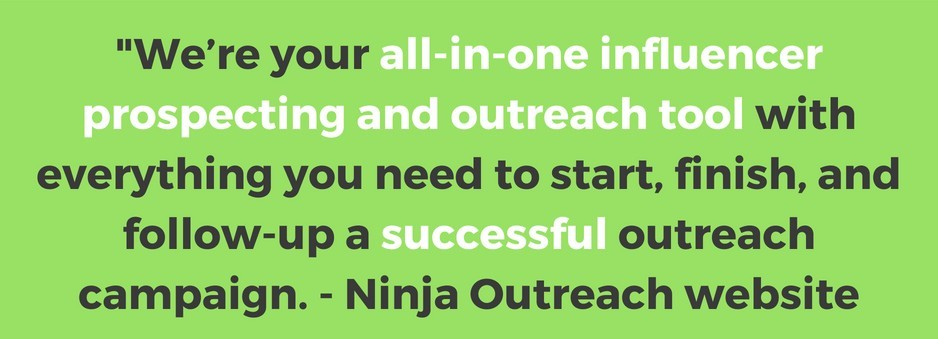What is the Ninja Outreach tool?