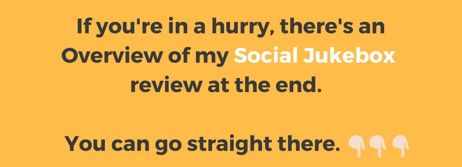 Go to my Social Jukebox overview at the end