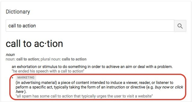 Call to Action Definition