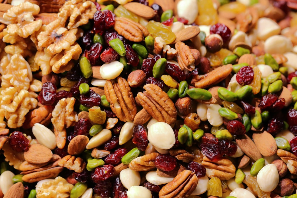 Being a good source of protein and fiber, nuts also contain monounsaturated fats and other substances that are good for the heart. nuts to reduce heart disease risk
