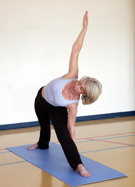 This yoga movement is useful for maintaining the flexibility of your waist.