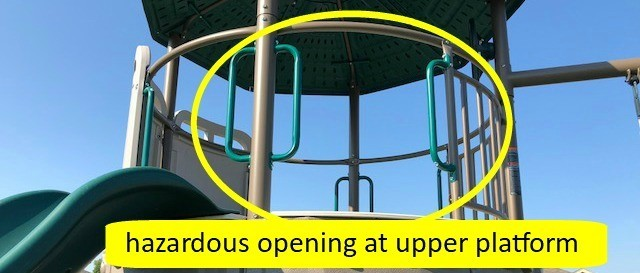 haazardous platform opening