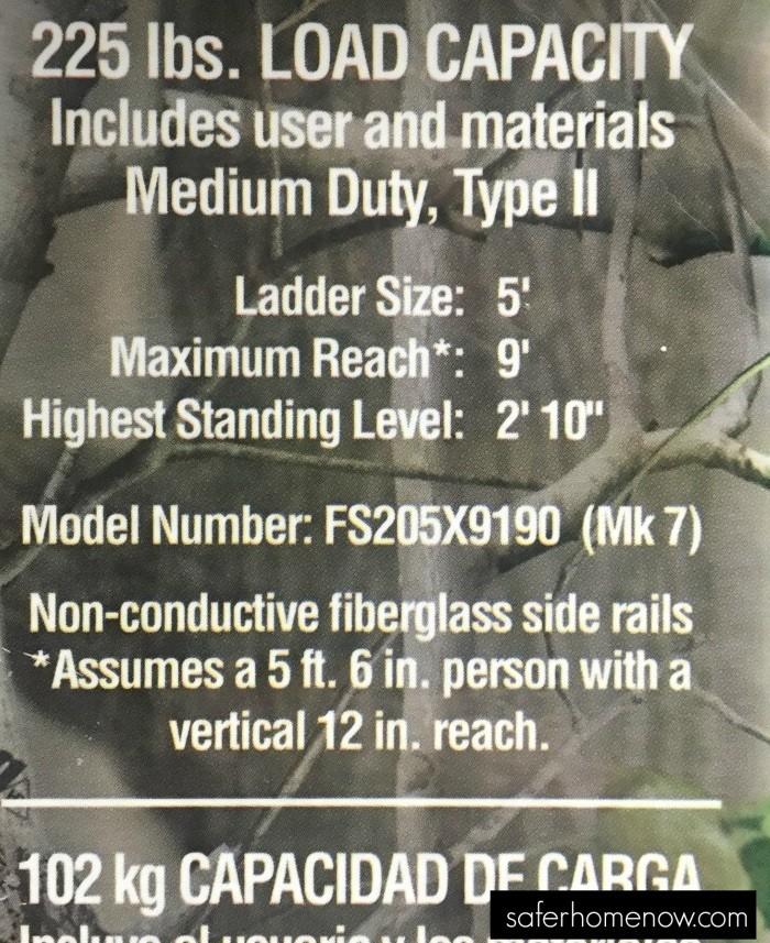 ladder safety label