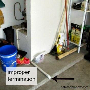 improper drain termination