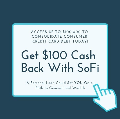 get 100 dollars cash back with a sofi personal loan