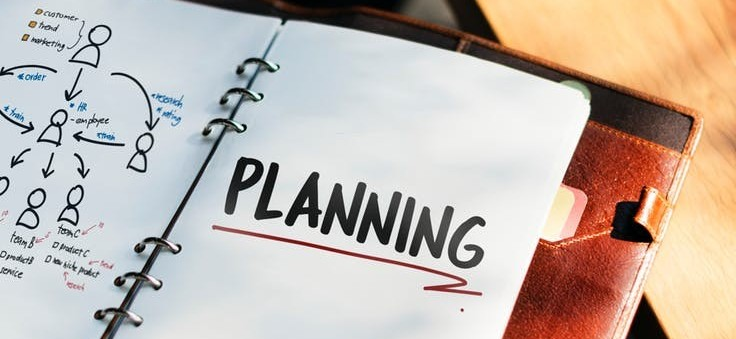 Photo of a planning book