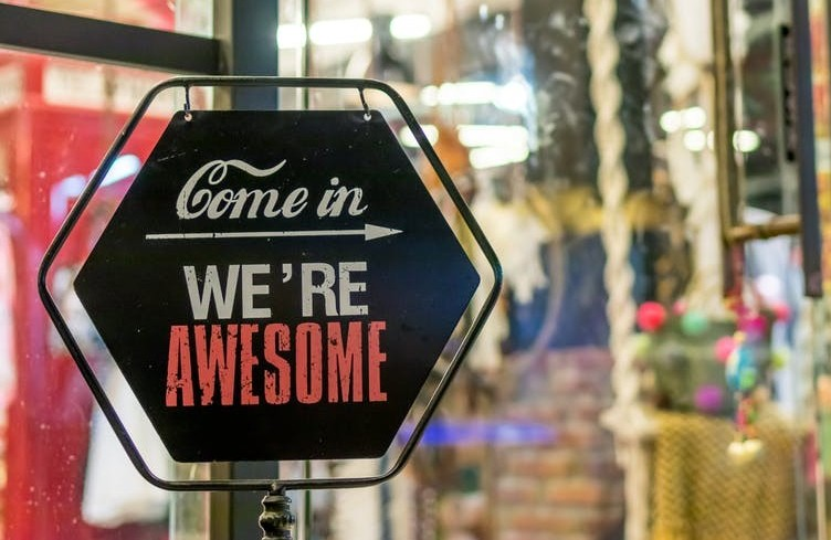 Your domain should be inviting as the sign say come in we're awesome