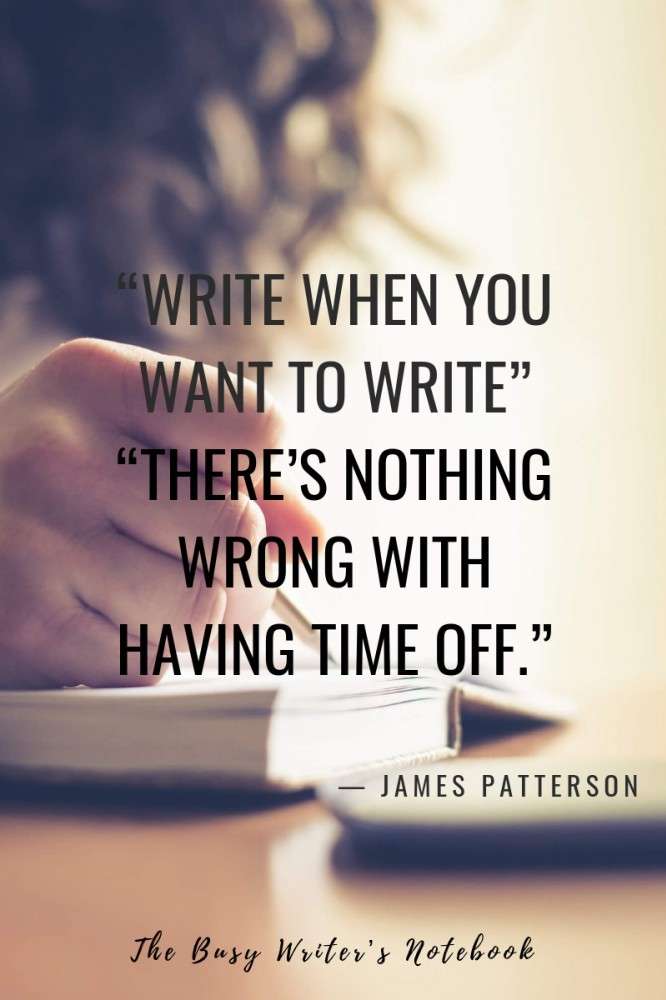 James Patterson Writing Class