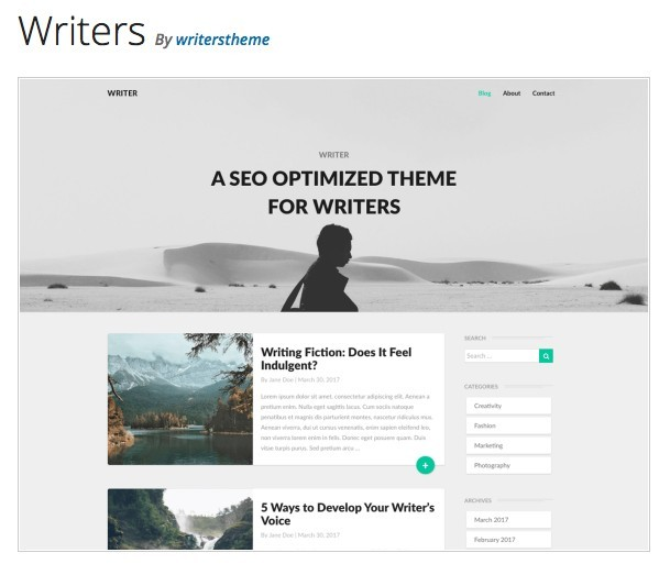 Writers Theme