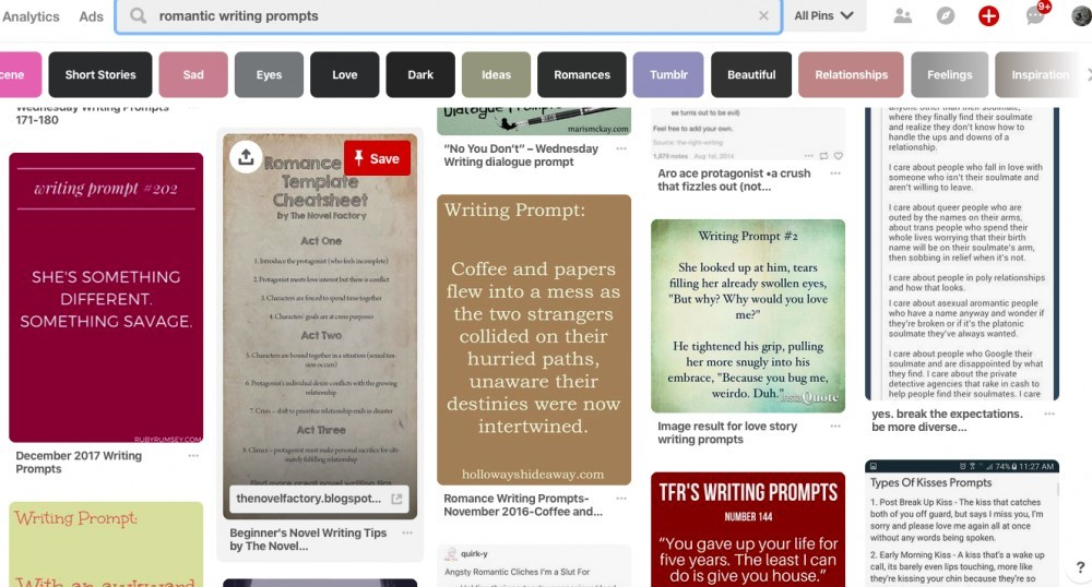 Pinterest Writing Prompts
