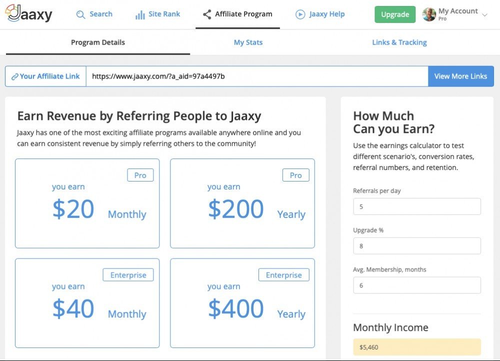Jaaxy Review - Affiliate Program