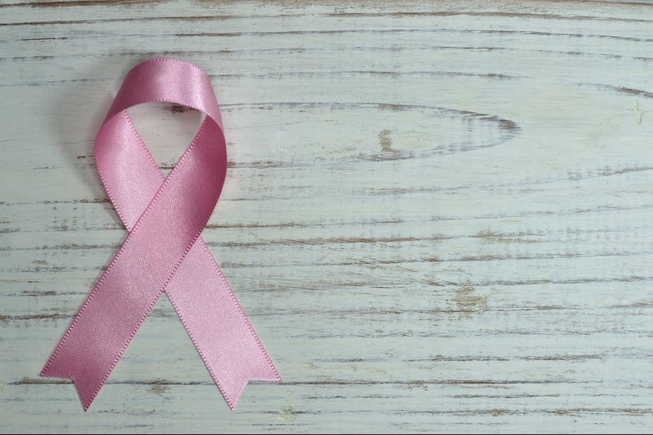 The pink ribbon for breast cancer awareness