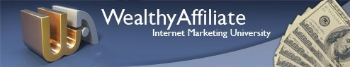 Wealthy Affiliate INternet marketing University banner