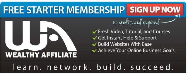 sign up for the free starter membership Wealthy Affiliate to start a blog