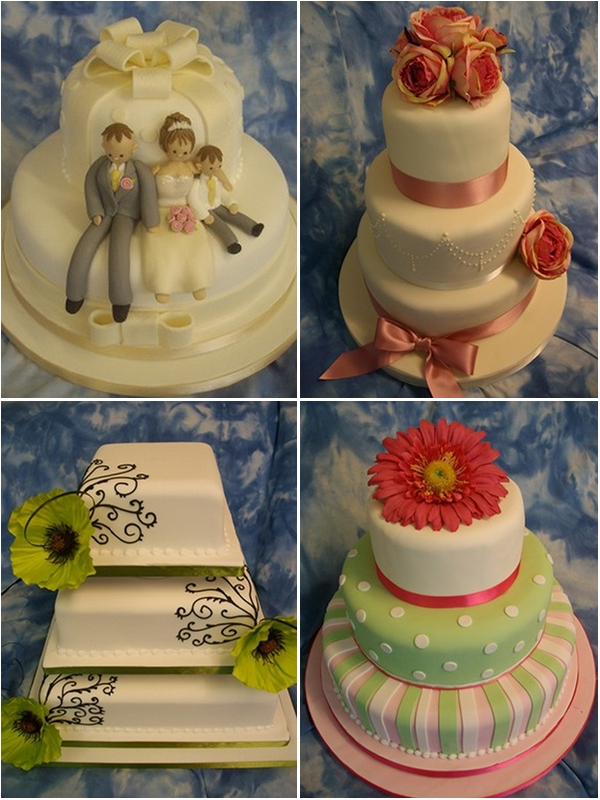 High Quality Personalised Wedding Cakes In Leeds Board To Tiers