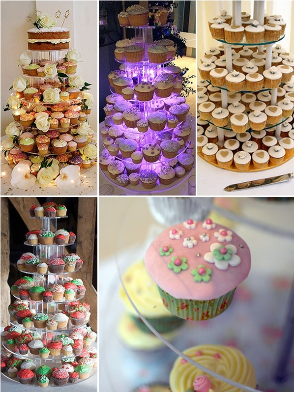 DIY Wedding Ideas Cupcake Cakes