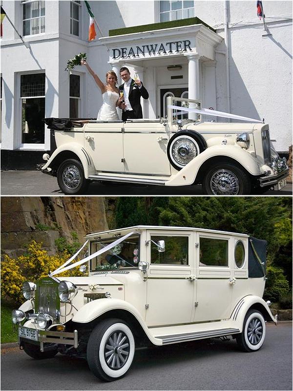 Luxury vintage-style wedding transport from Horgans Wedding Cars ...