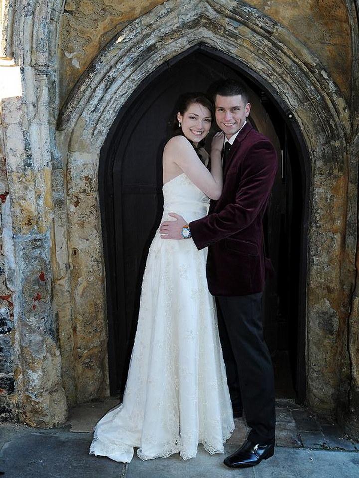Happy couple, Dragon Hall Norwich