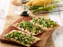 Wewalka - Grilled Corn Salad Summer Flatbread