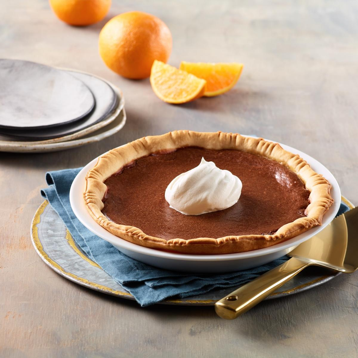 Wewalka Recipe - Orange Chocolate Pie