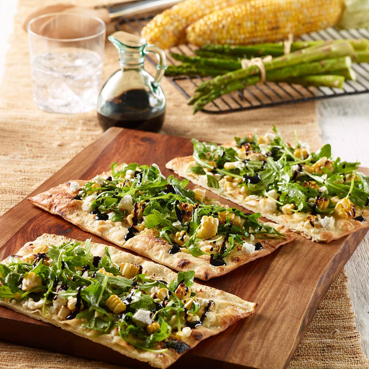 Wewalka Recipe - Grilled Corn Salad Summer Flatbread